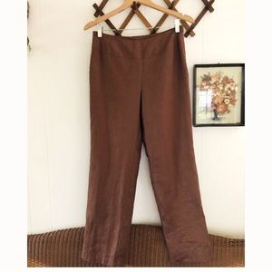 Vtg Minimalist Irish Linen Trousers